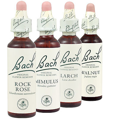 Bach Flower individual Remedies Rescue remedy Agrimony Beech Chestnut Bud
