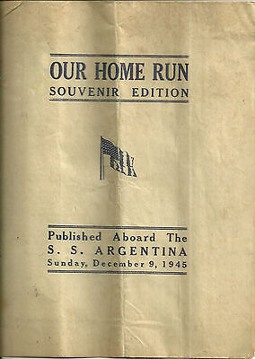 December 9 1945 Magazine Published abroad SS Argentina WWII