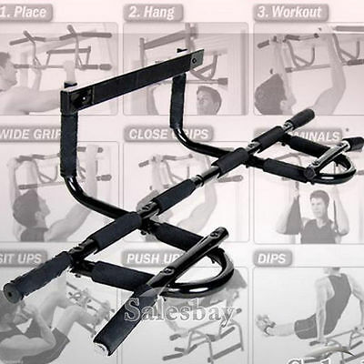 Portable Exercise Doorway Cardio Chin UP Bar Iron Gym Home Fitness Exerciser