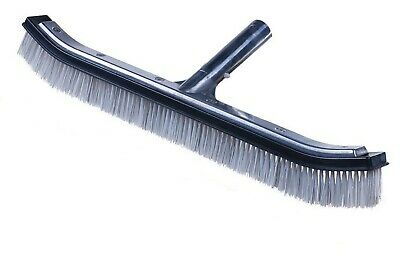 Black Brush Body and White Bristles with Aluminum Back and Handle Stainless Steel /& Nylon Bristles Mixed Curved Pooline 18 Inch Pool Brush