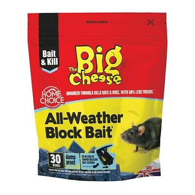 60 Blocks STV Poison Block Bait Rat Mouse Mice Rodent Killer Pest Control