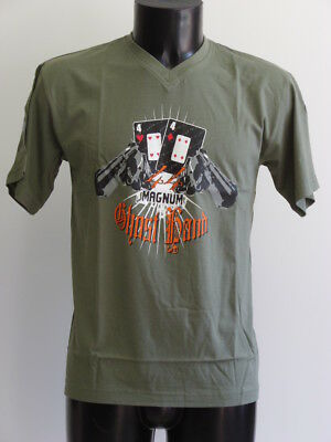 """T-Shirt Theme Poker """"Limp'in"""" Modele 44 Mag Homme Col V / Taille M"""
