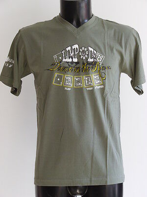 """T-Shirt Theme Poker """"Limp'in"""" Modele Drama On The River Homme Col V / Taille M"""