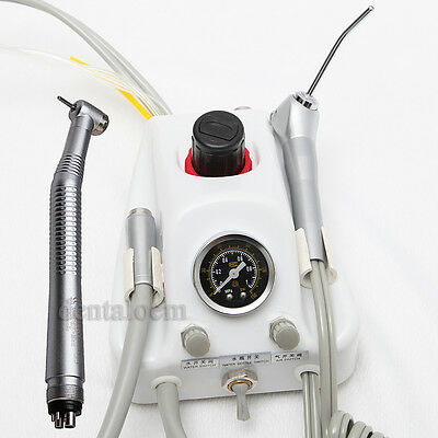 Brand New Portable Dental Turbine Unit work with High speed handpiece 4 hole