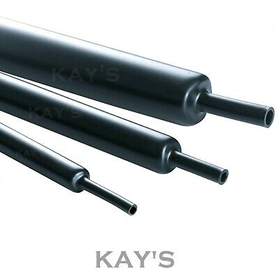 Black Heat Shrink Tube / Sleeve, Various Sizes & Lengths