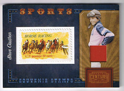 Steve Cauthen 2010 Panini Century Collection Stamp  # 1/1 Affirmed Jockey Silk