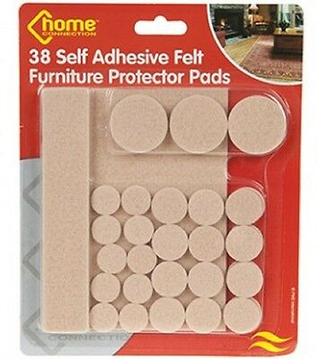 27 Heavy Duty Self Adhesive Felt Pads Wood Laminate Floor Protector Furniture