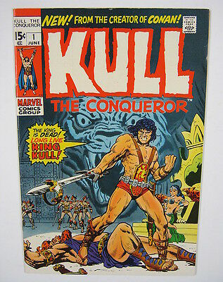 Kull The Conqueror #1 Origin & 2nd App Kull VF 8.0 BRONZE AGE MARVEL COMICS 1971