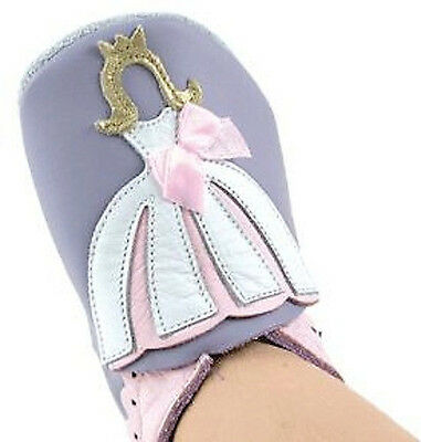 Bobux Sweet Purple Soft Leather Baby Shoes with Princess 1 3 4.5 6.5
