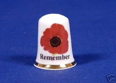 Remembrance Day 'Exclusive' Bone China Thimble. B/27