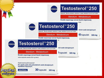 3 x TESTOSTEROL 250 (90 caps.) ANABOLIC MUSCLE BOOSTER, INTERNATIONAL SHIPPING