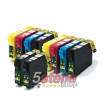 Kit 10 Cartucce Compatibili Per Stampante Epson Stylus Office B42Wd B42 Wd