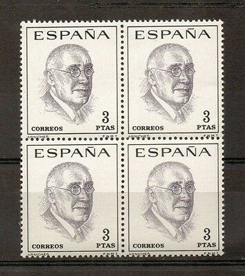 Spain MNH scott SC#1386 CARLOS AMICHES block of 4 stamps