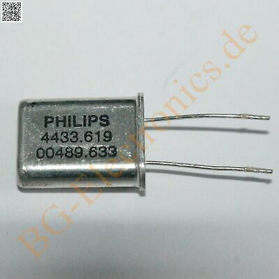 5 x Quarz 4.433619 MHz HC49 U   Philips HC49/U 5pcs
