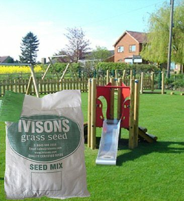 10 Kg PREMIUM HARD-WEARING TOUGH LAWN GRASS SEED DEFRA CERTIFIED IVISONS SEEDS