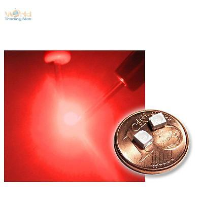 10 rote SMD LEDs PLCC2 / 3528 tief rot red rouge rojo rosso rood SMDs Led PLCC-2
