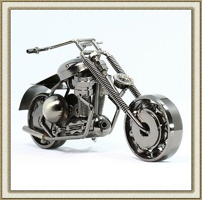 Recycled Metal Art Hand Made Bar Vintage Harley-Davidson Motorcycle Model M12
