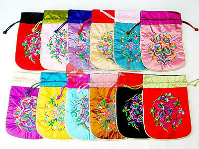Wholesale60pcs Chinese Embroidered Beautiful Silk Jewellery Pouch&Coin Purses