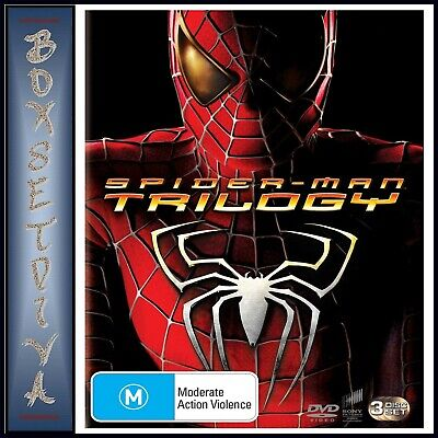 Spiderman Trilogy - Spiderman 1 2 & 3 *brand New Dvd Boxset **