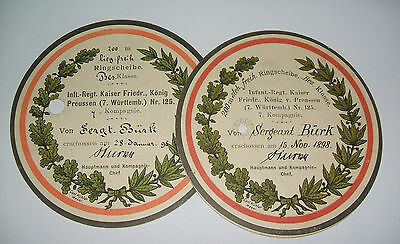 two 1898 military targets shot by sergt burk prussian 7th wurttenb 125 infantry