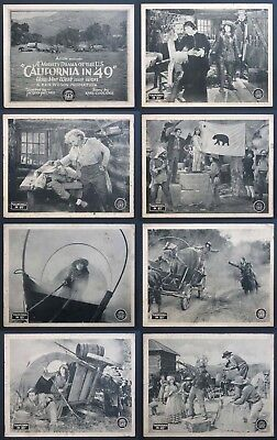 California In '49 Silent Gold Rush Western 1924 Lobby Card Set