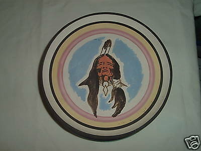 Native American Sioux Handpainted  Little Thunder Decor Plate