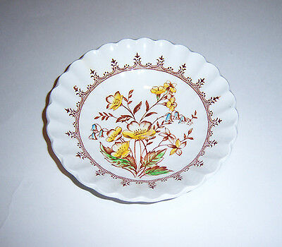 Six J & G Meakin England Classic White Fruit Bowls Buttercups Pattern
