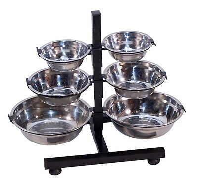 Raised Dog Bowl Stand And 2 Bowls - Small Medium Large - Cat Pet Feeder Drinker