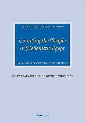 Counting the People in Hellenistic Egypt by Willy Clarysse (English) Paperback B
