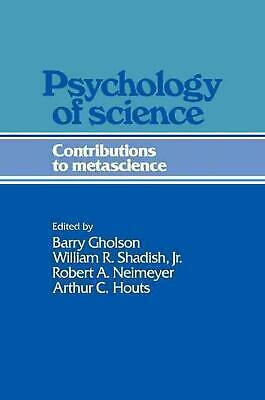 Psychology of Science: Contributions to Metascience by Paperback Book (English)