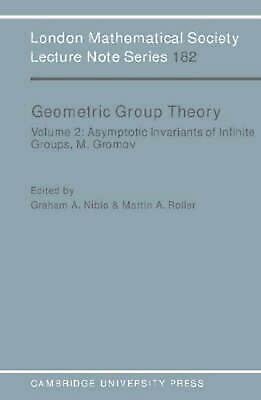 Geometric Group Theory: Volume 2 by Graham Niblo (English) Paperback Book Free S
