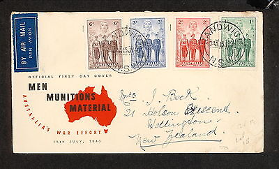 FDC 1940   AIF SET OF 4 FDC ADDRESSED Randwick Airmail (3615.50)