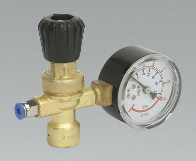 Disposable Cylinder Gas Regulator & Gauge 110 Bar  6Litre/Min = Co2 + Argon