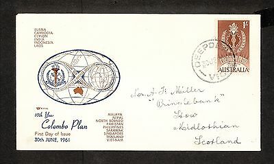 FDC 1961   1/- COLUMBO First Day Cover ADDRESSED Deepdene (3629.44)