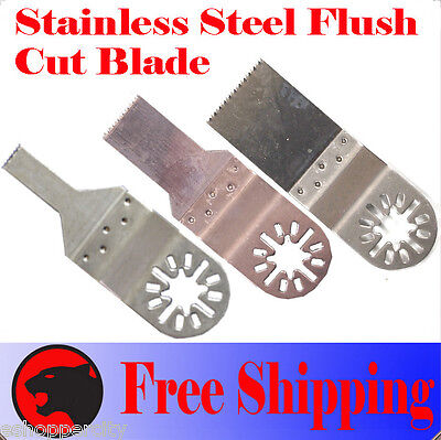 3  SS Flush Oscillating Multi Tool Saw Blade For Dremel Bosch Fein Multimaster