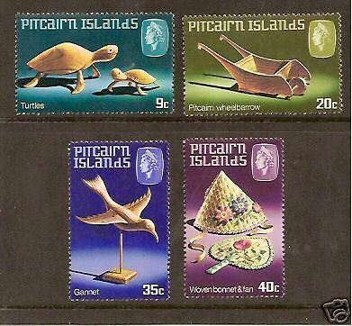 PITCAIRN IS 1980 HANDICRAFTS 2nd Series TURTLE 4v MNH