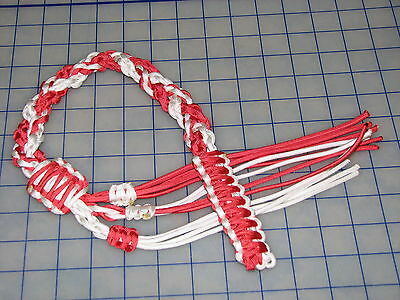 paracord 550 decorative whip love red white passion coke colors wall hanger cord