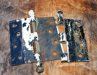 Vintage-Collectible  1 + 1/2 Door Hinges -Set, Painted Over, See Pictures