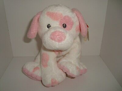 """Ty Pluffies White Bunny Rabbit W/carrot 2005 10"""""""