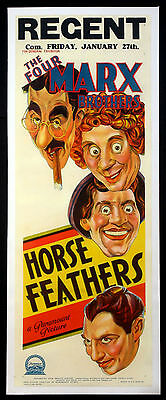 Horse Feathers Marx Brothers 1932 Australian Daybill Movie Poster