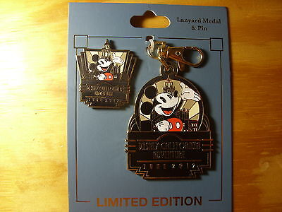 Disney California Adventure Opening Day Lanyard Medal and Pin Set LE 500