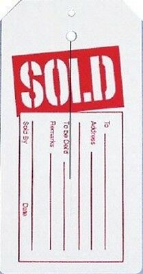 Retail Garment Slit Tag Red & White SOLD /1000