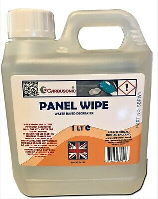 Panel wipe water based degreaser Pre Paint wipe 1 litre removes silicone and wax