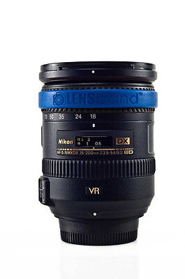 Lens Band STOP ZOOM CREEP for Nikon 55-200mm in Dark Blue