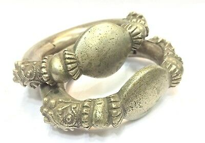 Rare! Antique Ethnic Tribal Gold & Silver Jewelry Lot Rajasthan India