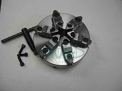 "6"" 6-JAW SELF-CENTERING  LATHE CHUCK w. top&bottom jaws--0.003"" TIR---new"
