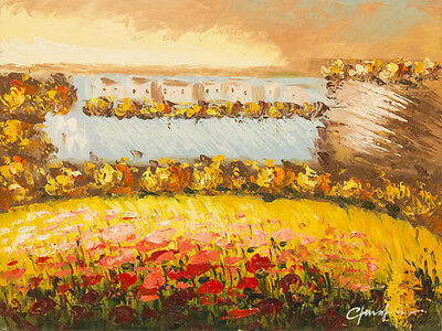 """Impression Landscape  Fine Hand Painted Oil Painting on Stretched Canvas12""""x16"""""""
