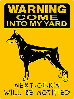 Doberman Pinscher  No Trespassing  Aluminum Sign Dogs Vinyl Graphics C3357