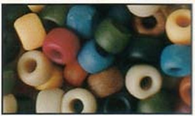 100 Mixed Americana Pony Beads, IDEAL FOR DUMMY CLIPS , BRACELETS , HAIR BRADING