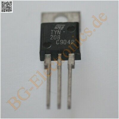 1 x TYN208 Silicon controlled rectifier - Thyristor 8A 200V  STM TO-220 1pcs